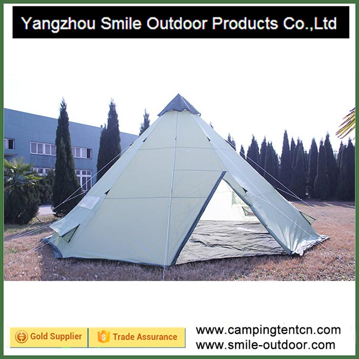 T-666 windproof 10 person outdoor camping tent tipi