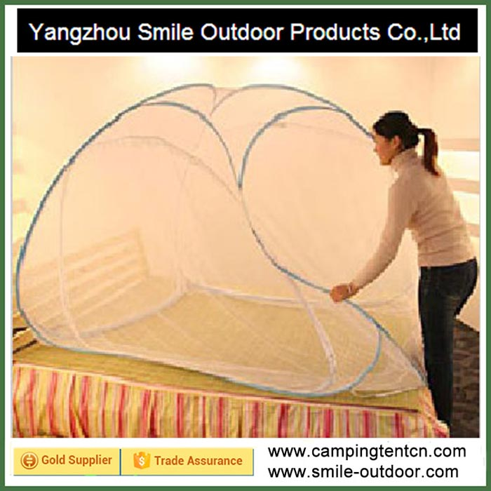 SMN006 Indoor dome adult sleeping queen bed folding mosquito net tent