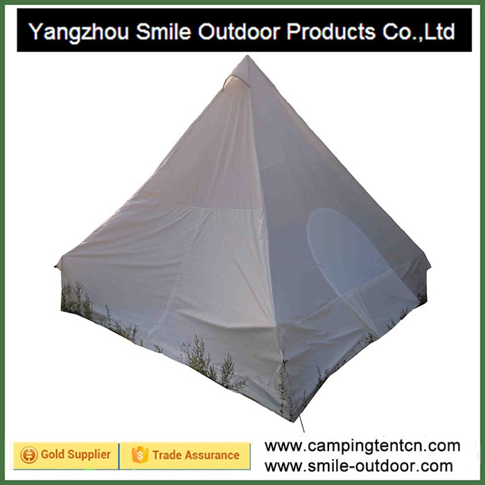 T-132 double faced silica coated winter camping pyramid travelling tent