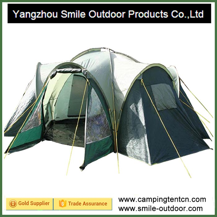 T-150 camping tent 6 person steel frame yurt best waterproof family tent 3 rooms