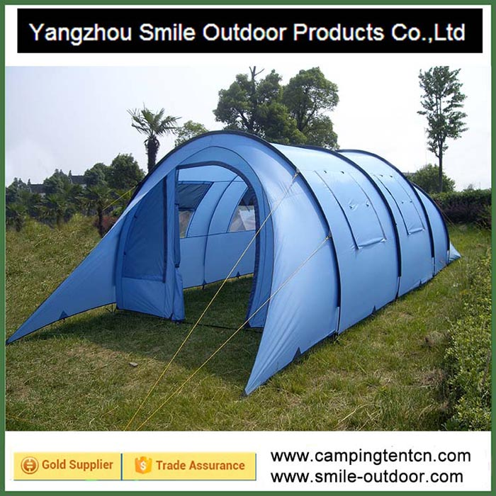T-788 10 person bedouin large family tunnel camping canvas bell tent