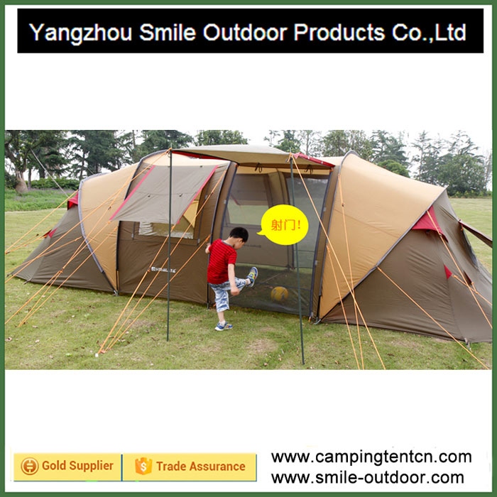 T-795 removable vestibule 6 man 2 room family camping event tent