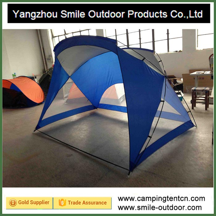 ... T-406 sun protection blue striped c&ing dome beach warehouse roof tent & Beach Tent-Yangzhou Smile Outdoor Products Co.Ltd
