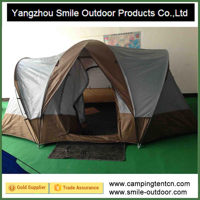 T-410 fashion big waterproof family two rooms veranda funny c&ing tent & Family Tent-Yangzhou Smile Outdoor Products Co.Ltd