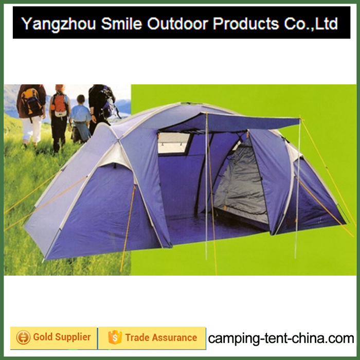 T-422 outdoor tourism rain protection two room family camping tent 6 person