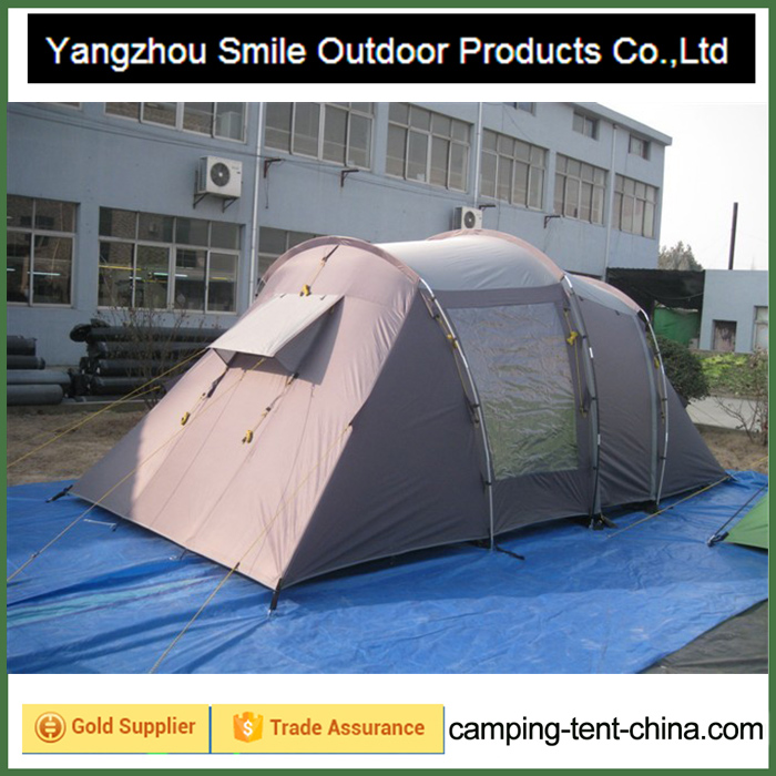 T-455 4 person kd garden china temporary camping family tent with kitchen