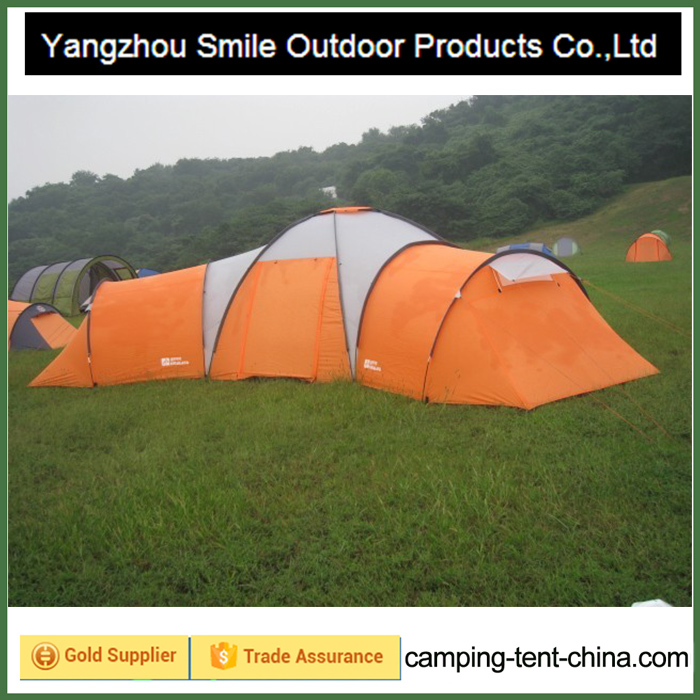 T-459 12 person big family garden all weather 3 room camping tent