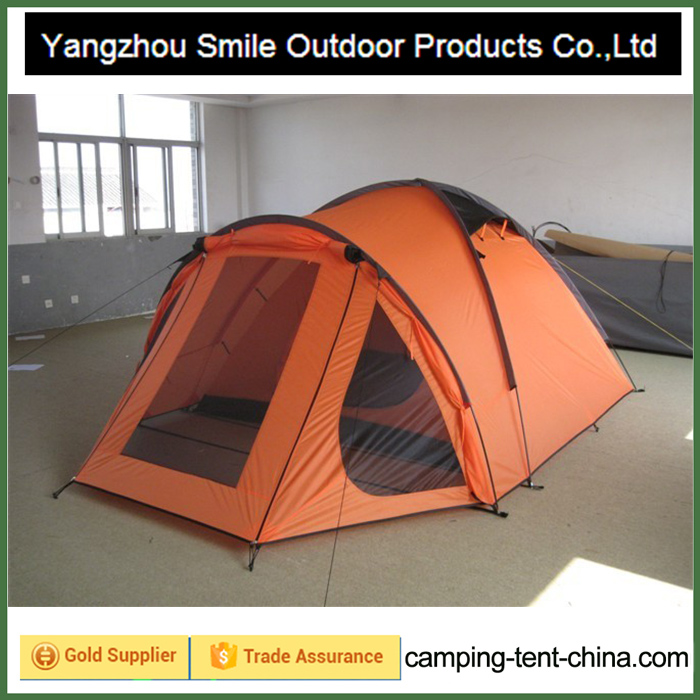 T-465 4 person custom rainfly polyester waterproof camping windbreak tent