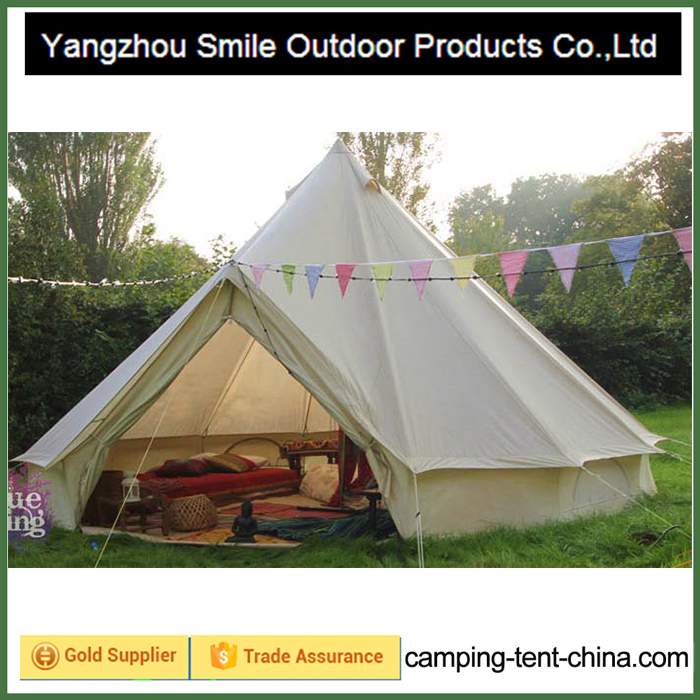 T-771 fireproof germany customized printing 2 person tipi tent & Teepee Tent-Yangzhou Smile Outdoor Products Co.Ltd
