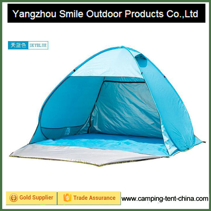 T-801 auto easy pop up beach tent UV proof sunshade camping