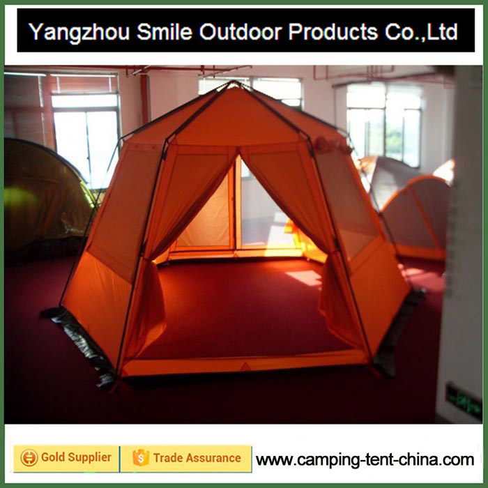 T-477 4 person dome shape asia hexagon camping yurt tent