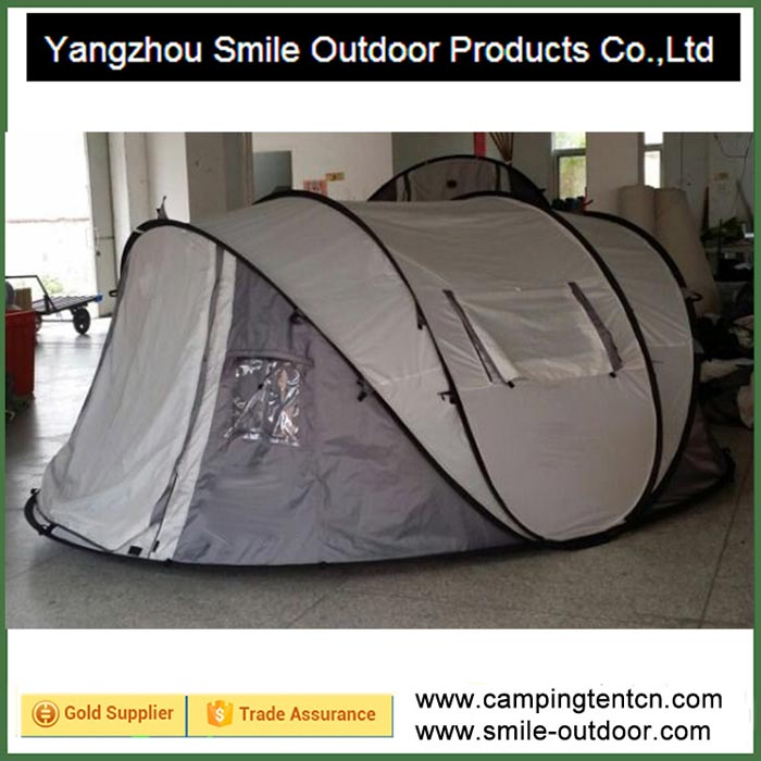 T-577 double layer camping pop up 4 man wholesale tent one touch
