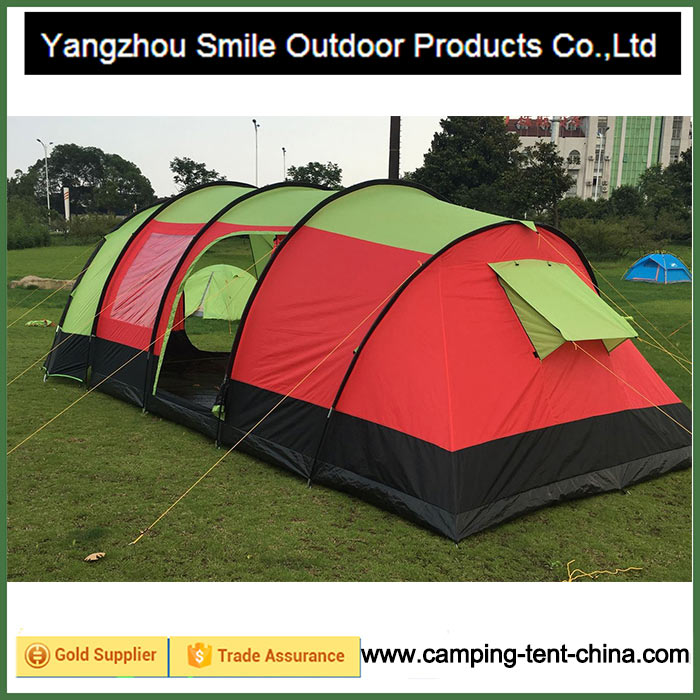 T-811 2016 New Product Two Rooms Hiking Tunnel Tent Outdoor Family Tent