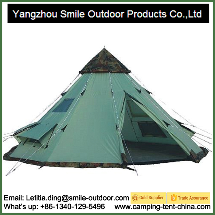 T-829 Teepee Luxury Big Canvas Bell Family Outdoor Large Camping Tent