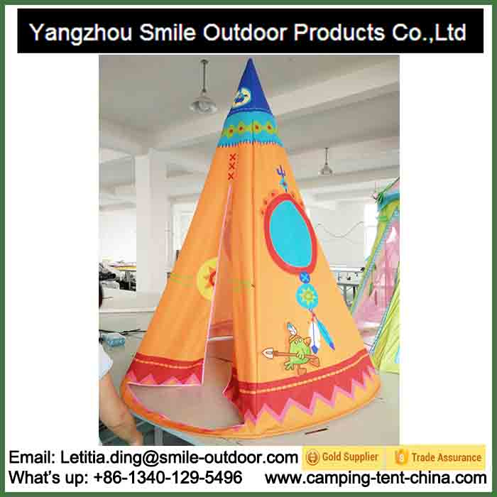 T-817 kids games pyramid teepee tent