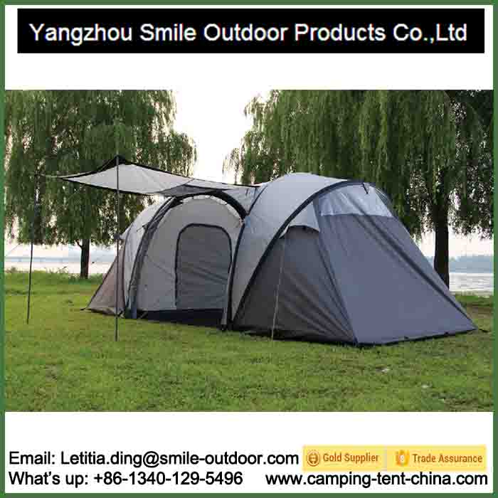 T-916 two rooms quick opening family inflatable tent